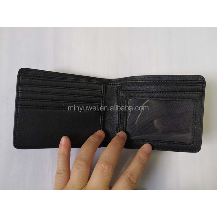 black 3k Twill carbon fiber texture PU leather men wallet custom Logo