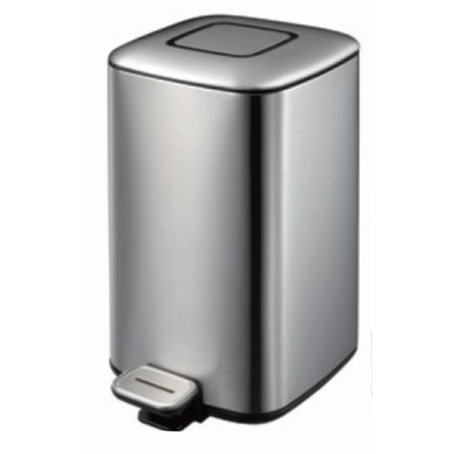 Hotel Guest Room Stainless Steel Foot Pedal Waste Bin Dustbin