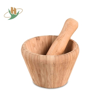 Portable Mortar And Pestle Wooden