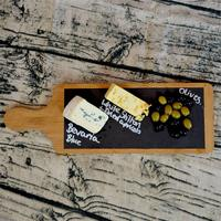 Natural Bamboo Removable Cheese Board Set Wood Cutting Board Slate Plate with Handle