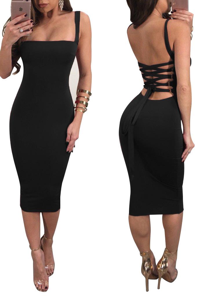 2020 New Arrivals Cheap Women Summer Sexy Backless Dress
