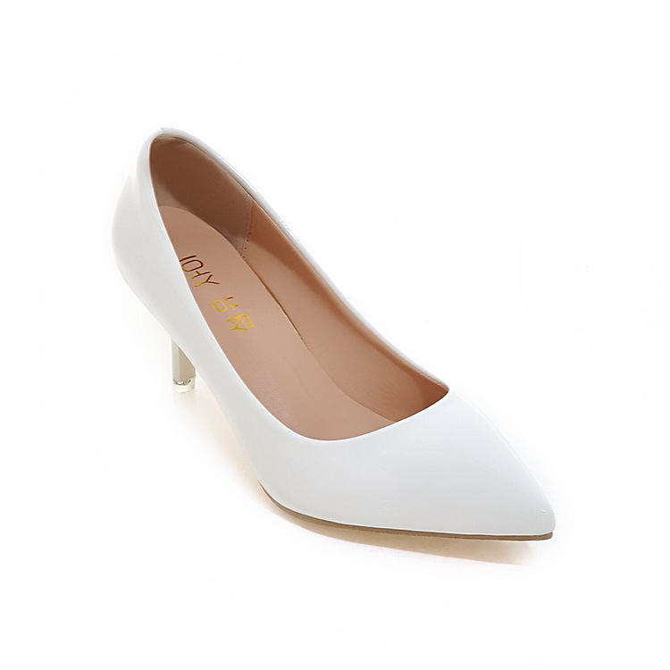 Custom Ladies Pointed Toe Fashion Stiletto White High <strong>Heels</strong>