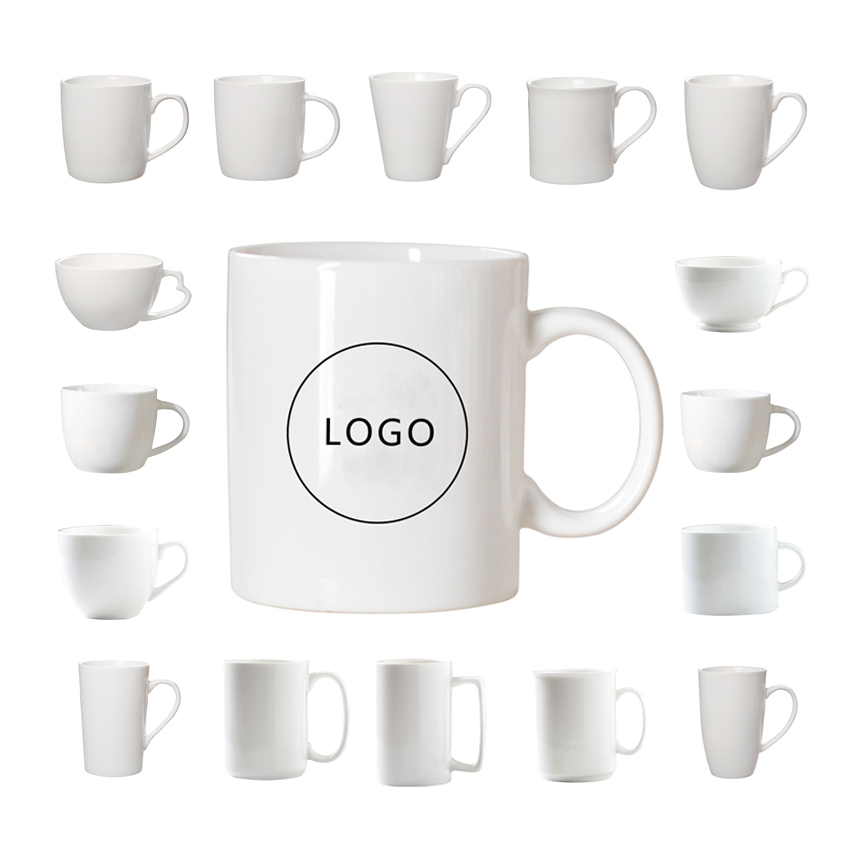 2020 NEW Custom <strong>logo</strong> White Ceramic cup ceramic tableware Coffee Mugs Ceramic mugs
