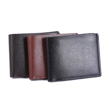Hot Selling leathers factory minimalist slim wallet notecase genuine leather vintage wallet purse for men
