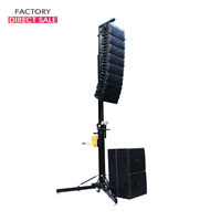 "Double 8"" waterproof professional active line array outdoor powered speakers neodymium HF with DSP active amplifier module"