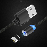 Quick Connector Led Usb Cable Magnet Pin Pogo Connector Magnetic Charging Cable