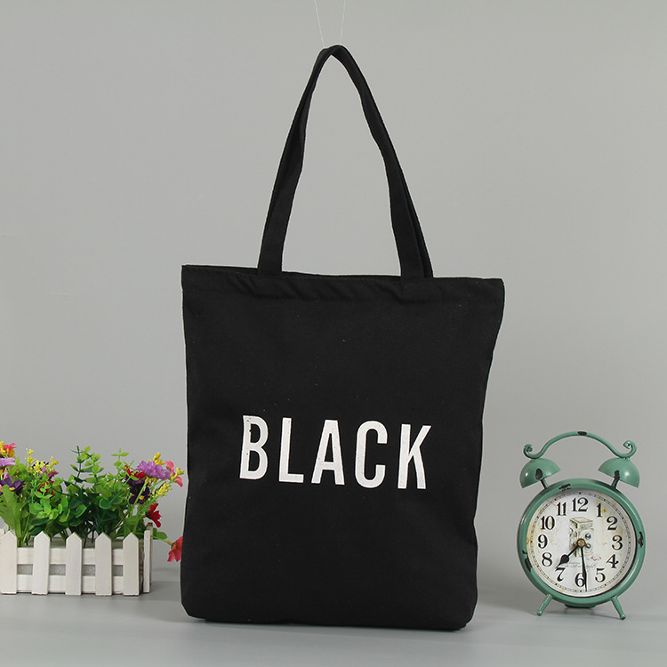 Reusable Canvas Custom Cotton Shopping Bag For Women