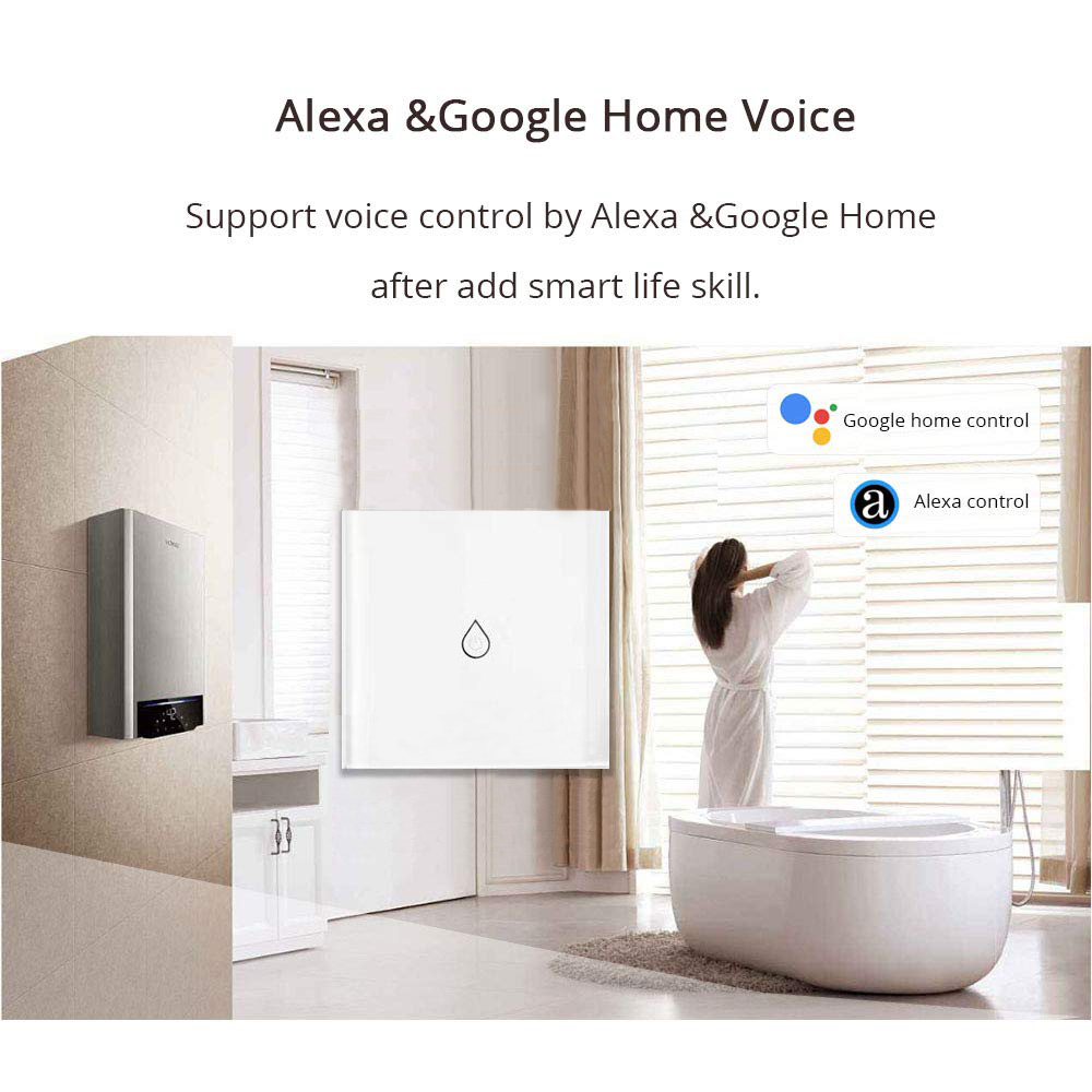 EU/UK Smart Wifi Water Heater Control Switch/Boiler Switch Wifi Compatible with Alexa/GoogleHome/IFTTT