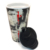 MOQ100pcs good sales Travel ceramic Coffee mug double wall Termo Cup