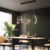 Postmodern Long Strip Pendant Light Nordic Warm Romantic Dining Room Bar Counter Decorative Metal Lighting Fixture G9 Glass Lamp