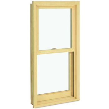 Custom wood grain  water proof double hung window for sale