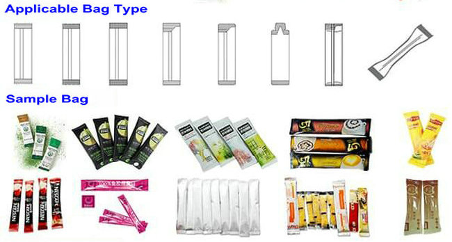 Katchup/ Spicy Sauce Liquid sachet 4 sided seal pouch multi lane stick pouch packing machine