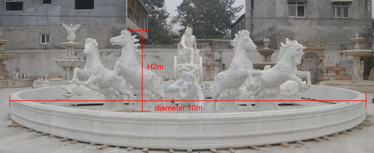 Famous White Marble Apollo Chariot Fountain