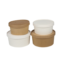 Eco friendly designed pla coated microwavable kraft disposable paper salad bowl