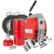 Commercial Drain Cleaner 690W Sectional Drain Cleaning Machine with 16&amp;22mm <strong>Cables</strong>