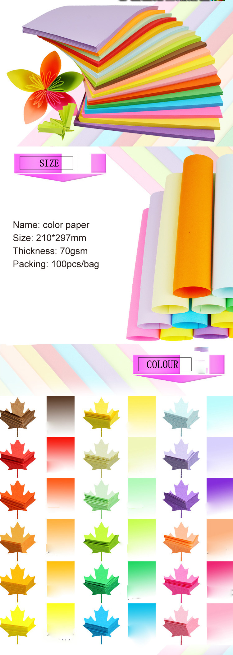 DIY A4 70gsm Artist Watercolor Portable Drawing Book  Tissue duplicating Copy Paper