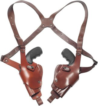 Premium quality ShenZhen supplier Double Vertical leather pistol Shoulder Holster