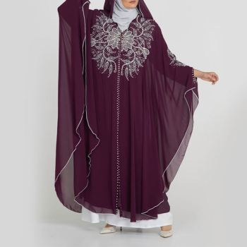 New Design Sexy Clothing Loose Arabic Jubah Muslim Women With Open Abaya