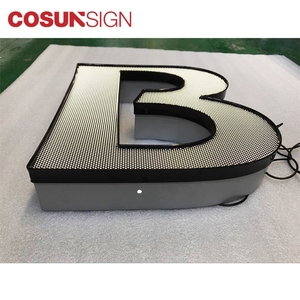 3D aluminum trim cap sign channel letters for outdoor advertising