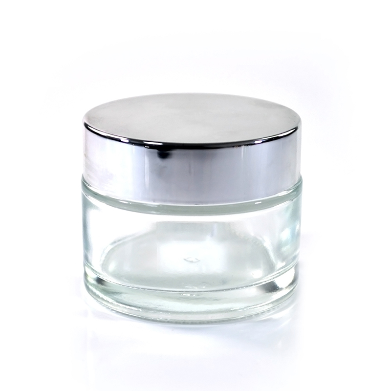Hot selling packing products 15g 30g 50g 50ml matte frosted clear glass cream jars with lids
