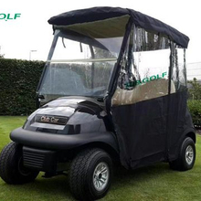 3 Sided Drivable Golf Cart Enclosure With Zippered Door For Club Car Precedent V2 Model