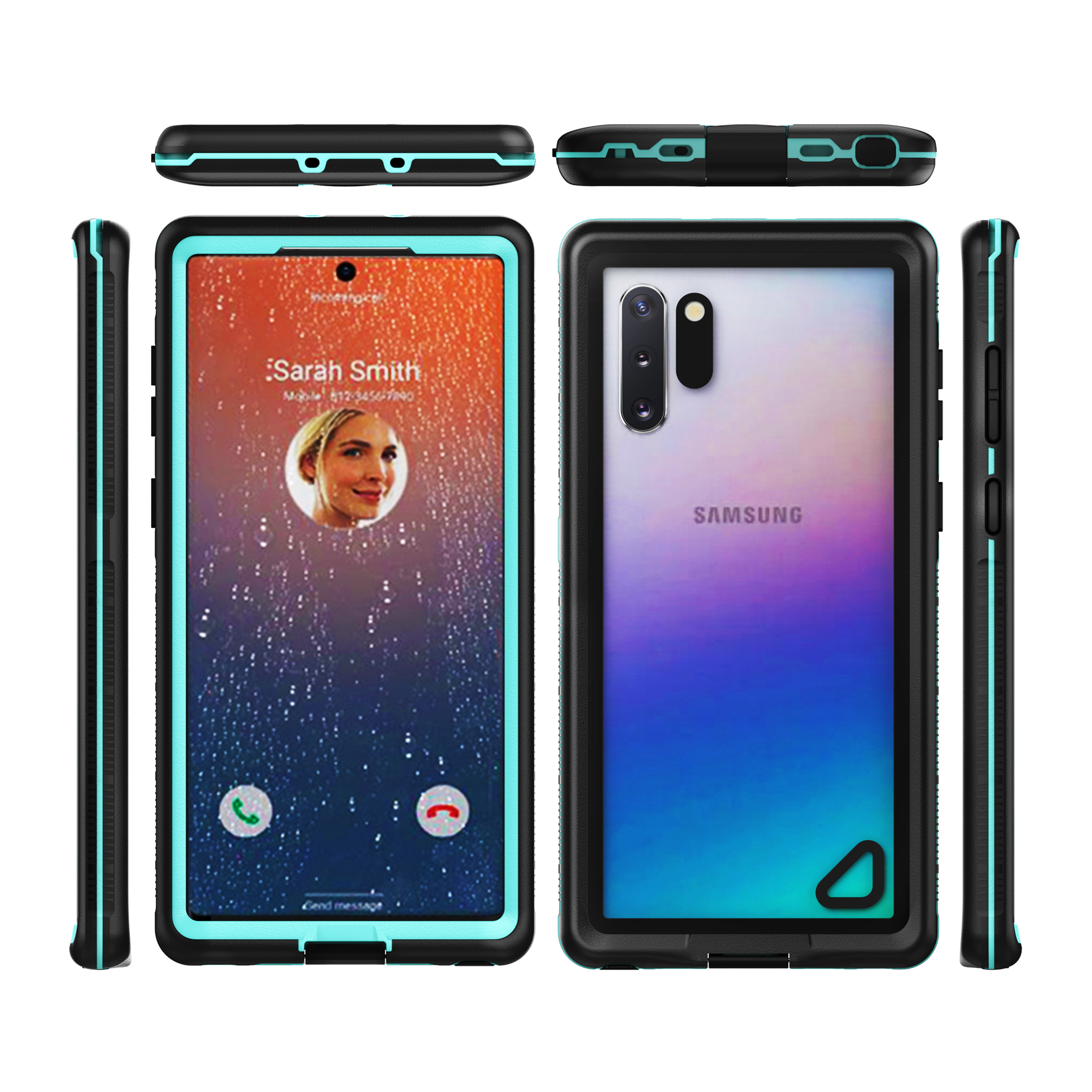 New anti-fall and dustproof full coverage multi-function waterproof mobile phone case for Samsung Note <strong>10</strong>