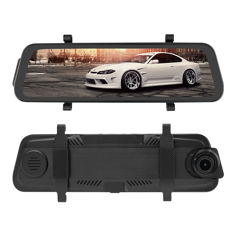 Hot Selling FHD 1080P 9.66 inch Vehicle Mini Dash Cam, loop recording video <strong>camera</strong> car black box with IPS display touch screen