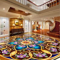 Interior Decoration 3D Pvc Wall Panel 3D Floor Mural $