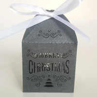 Merry Christmas Gift Box Laser Cut