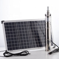 300W DC Brush-less Motor Built In Controller Solar Powered Submersible Deep Well Pump Water Pump Price For Irrigation