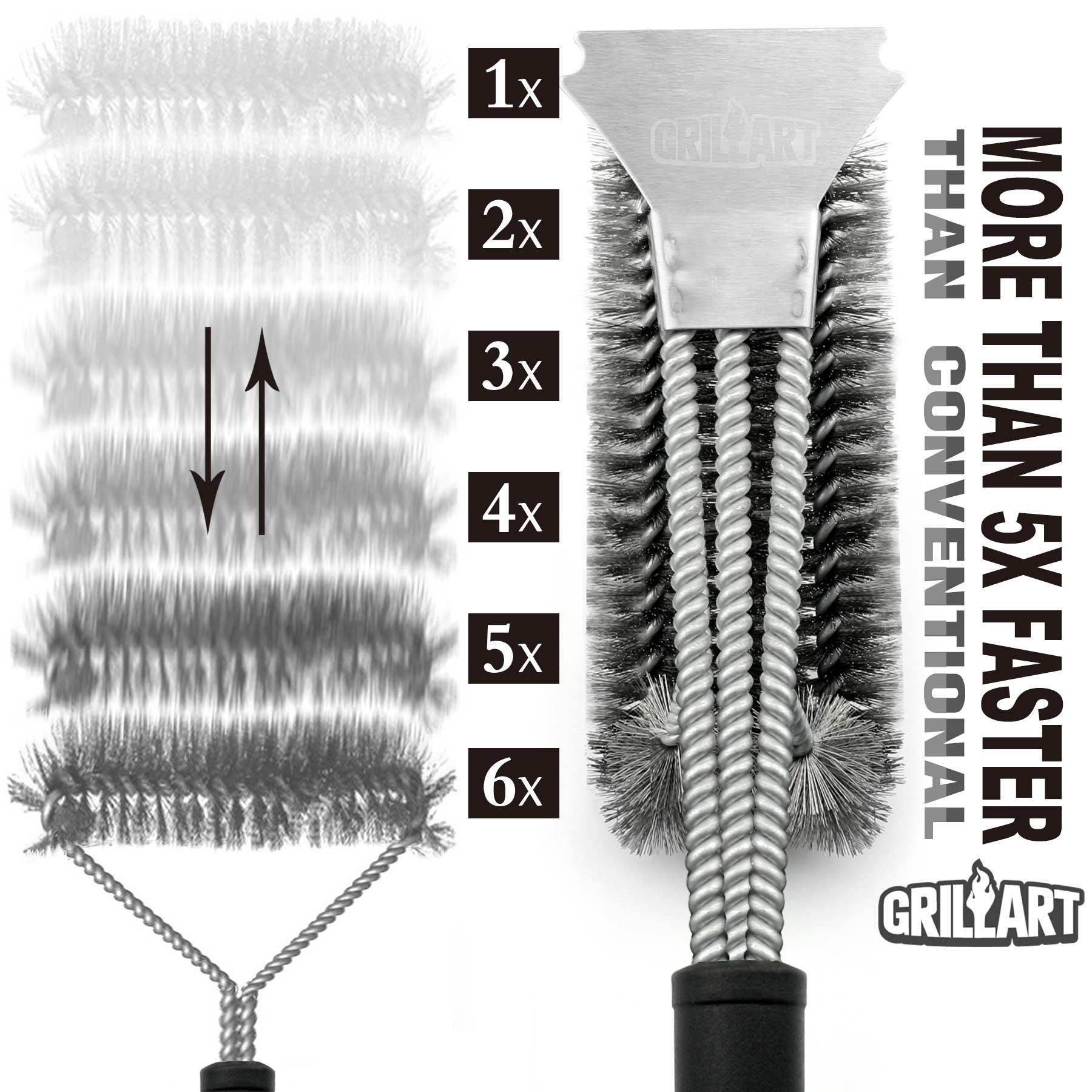 "Hot sell  18"" Inch Stainless steel  bristle barbecue grill cleaning brush"
