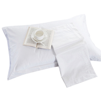 Custom 300TC white plain hotel bedding set pillow case cover 100% cotton pillowcase