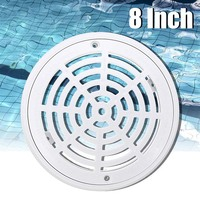 8Inch Replacement Round Main Drain Cover With Screws for Swimming Pool