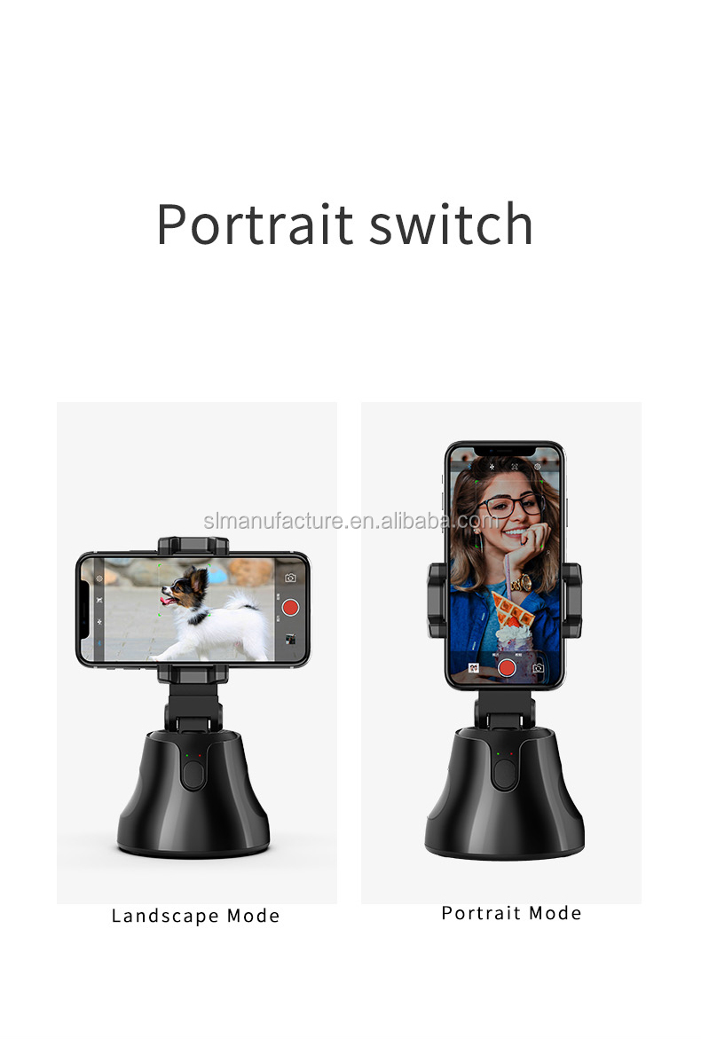 2020 NEW Portable Auto Smart Shooting Selfie Stick 360 Rotation Auto Face Tracking Object Tracking Holder