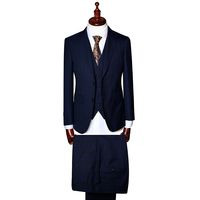 Mens suit 3 piece special check fabric formal suits blazer vest pant jacket clothing tailored made to measure