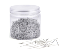 The 100g tub packing silver color straight dressmaker pins for sewing crafts quilting