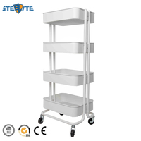 Wholesale Price Free Standing 4 Tier Bathroom Corner Shelf