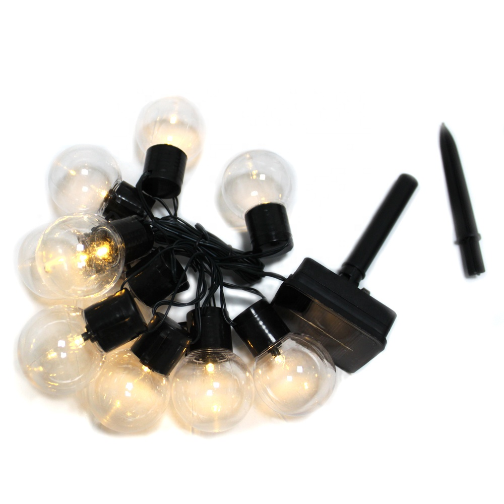 Solar Light String <strong>10</strong> LED Lantern <strong>Bulbs</strong> Outdoor Waterproof Christmas Garden Decoration String Lights
