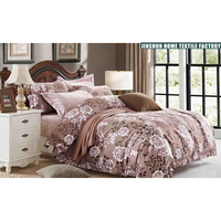 Fashion bedsheet set 100% cotton bedding queen sets 7 in 1