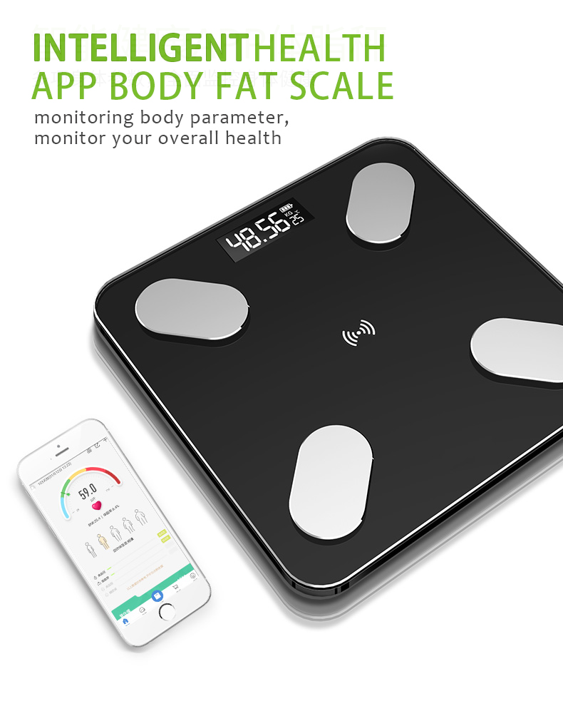 Wanggan Smart Bluetooth Electronic Scale  BMI APP Scale Body Fat Measurement