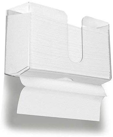 acrylic Paper Towel Holder Wall Mountable Paper Towel Dispenser for <strong>Z</strong>-fold C-fold or Multi-fold Clear Acrylic Pack of <strong>1</strong>
