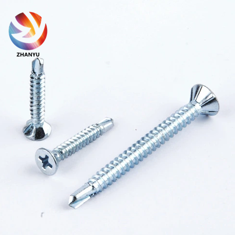 Phillips Flat CSK Head with Self Drilling Screw Zinc Plated <strong>C1022</strong> Carbon <strong>Steel</strong>