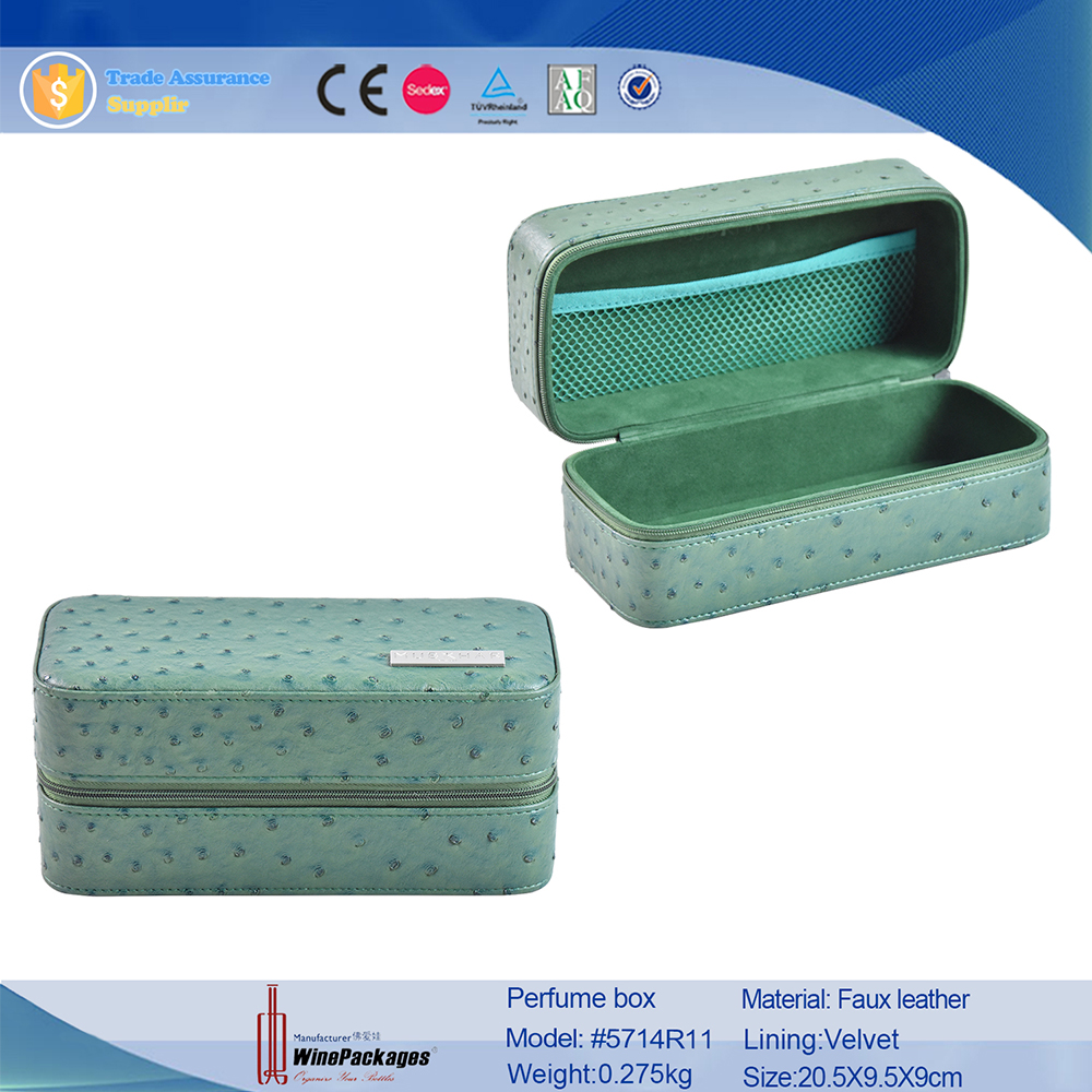 wholesale price rectangle supplierpu leather perfume box