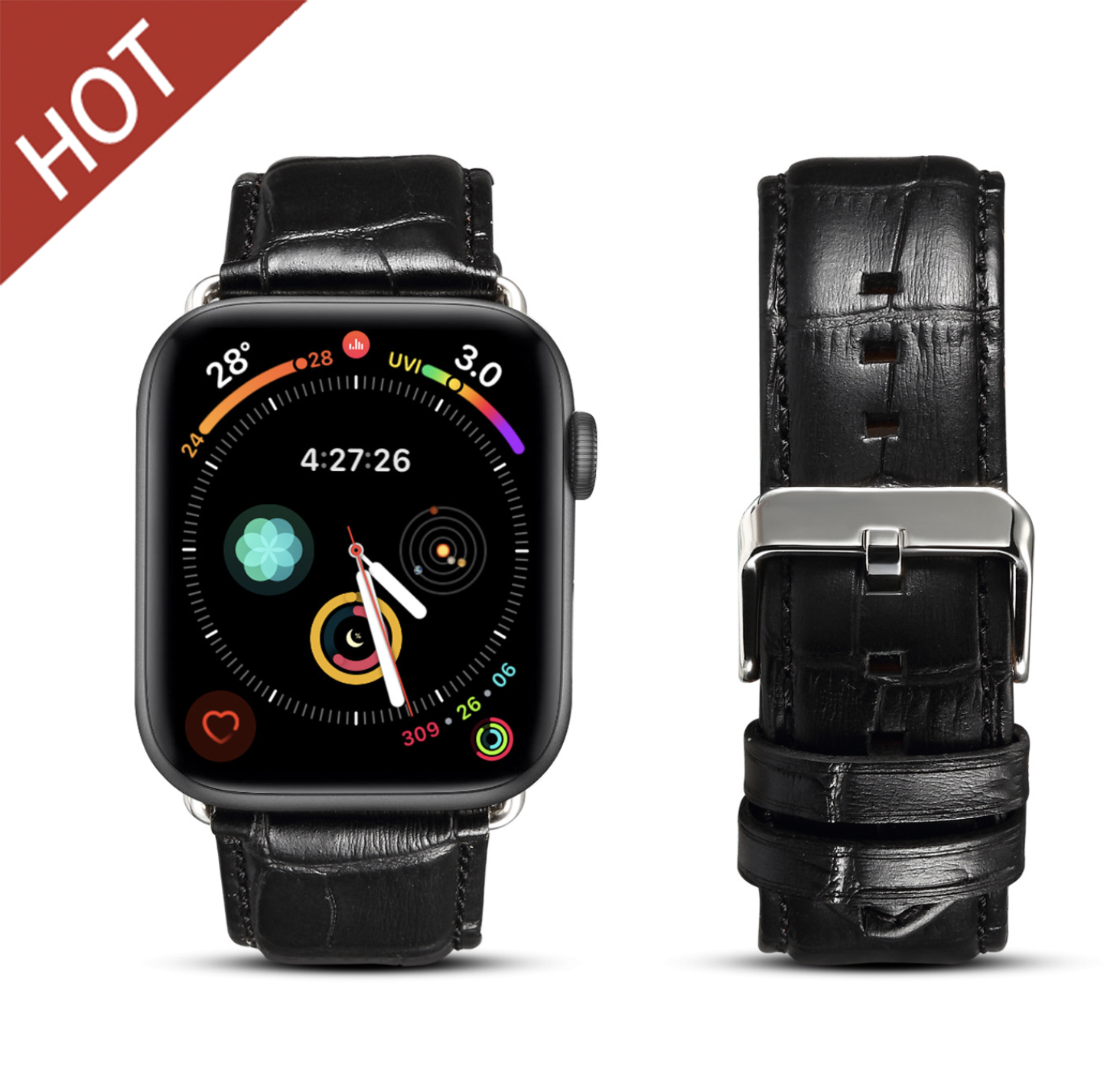 Genuine Leather Band Strap iwatch For Apple Watch Series 5/4/3/2 Leather Watch Band Strap Genuine Leather iwatch Strap Factory