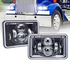 DOT SAE 4x6 led phare 55w pour camion kenworth phares T400 T600 T800 pour Peterbilt Phares Rectangulaires 4x6""