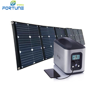 120V/230V Output Rechargeable Lithium-ion Battery Solar Power Station Portable UPS