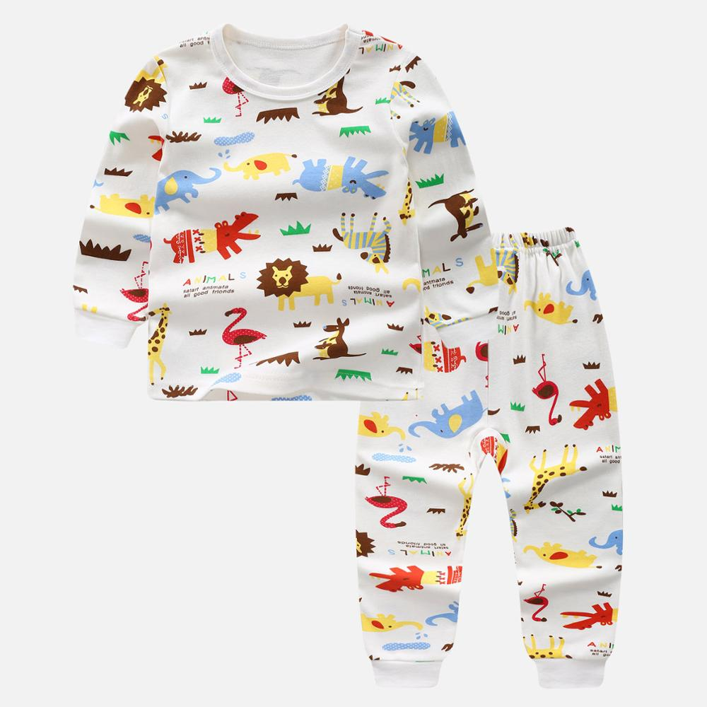 high quality Unisex Children Pajamas Clothes Suit Animal Sleepwear nigh clothing Set