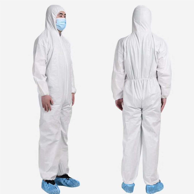 Lightweight Work Medical Nonwoven Disposable Protective Clothing Isolation <strong>Safety</strong>