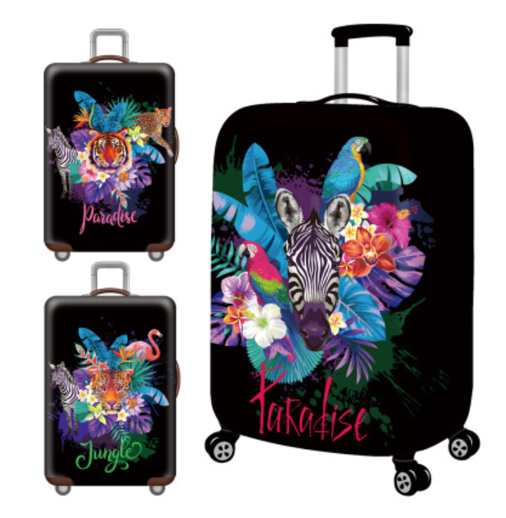 Wholesale 200 More Designs custom made brand animal cartoon polyester elastic luggage protective dust cover for suitcase
