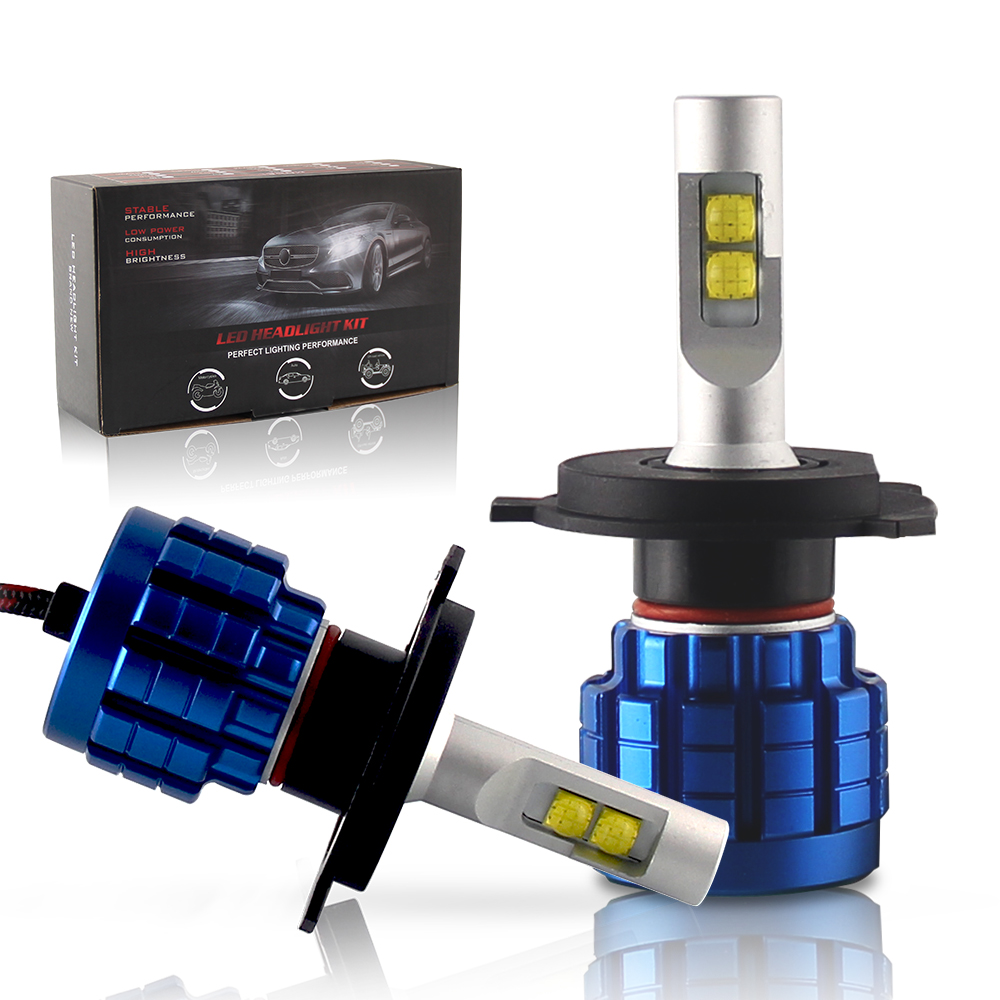Auto System Lighting 10000Lm 6500K Super Bright Cool <strong>White</strong> High Low Beam <strong>Q10</strong> Led Headlight Bulbs
